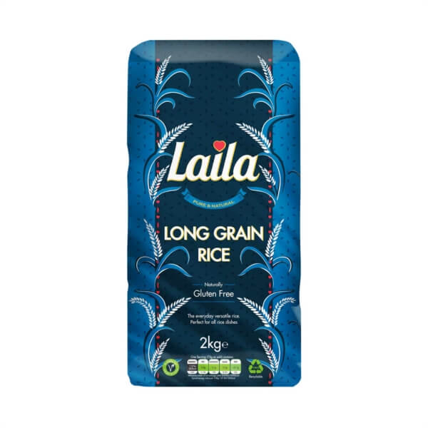 Buy Grocery Online united kingdom, Buy Indian grocery online, Buy Pakistani grocery online, Buy Bangladeshi grocery online, Laila Long Grain Rice, rice, Laila foods, Laila naturals