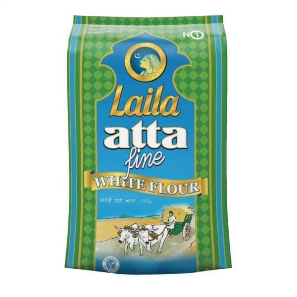 Buy Grocery Online united kingdom, Buy Indian grocery online, Buy Pakistani grocery online, Buy Bangladeshi grocery online, Laila Atta White, Atta, chapatti flour, Laila foods, Laila naturals