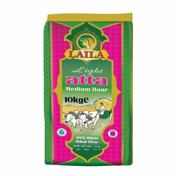 flour, medium flour, laila atta/flour, laila foods, grocery online, chapati flour