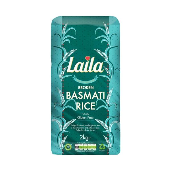 Broken basmati rice, laila rice, rice online, 2kg pack, grocery online